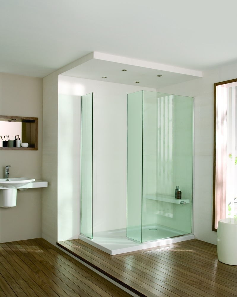 Baño Pequeno Mampara:Mamparas transparentes para baño y ducha
